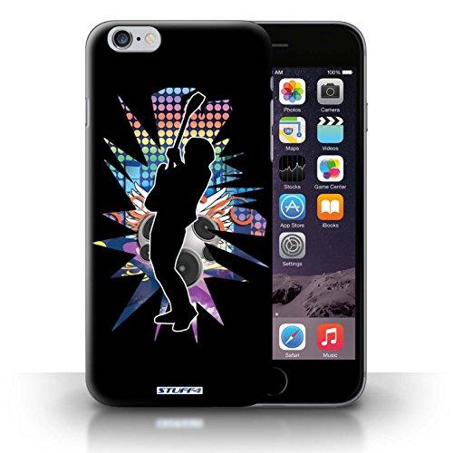 Kobalt® Imprimé Etui / Coque pour iPhone 6+/Plus 5.5 / étendre Noir conception / Série Rock Star Pose Hendrix Noir