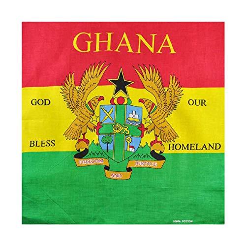 Bandana–Union Jack, St. George Irish, Kanada, Australien, Brasilien, Ecuador, El Salvador, Ghana, Jamaika, USA, Größe: 55x 55cm, grün, FB036_Flag_P ()