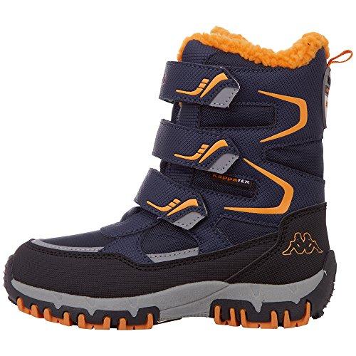 Kappa Unisex-Kinder TEX Kids Klassische Stiefel, Blau (Navy/Orange 6744), 39 EU