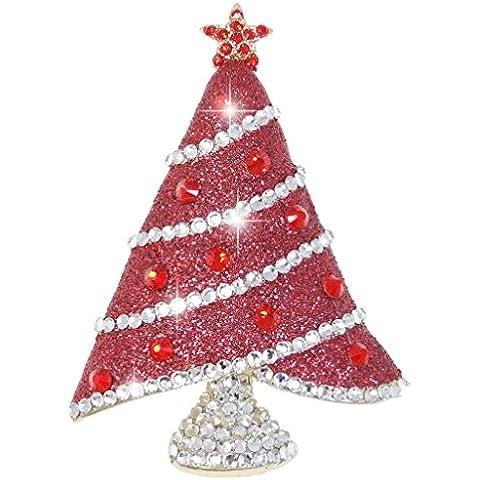 Ever Faith - Árbol De Navidad Oropel Cristal Austriaco Broche Esmalte