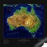 Satellitenbildkarte Australia, Planokarte