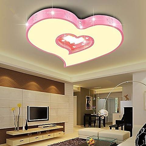 Lampe pour chambre d'enfant garçon feux Led Heart-Shaped Prix Lights Girl Love chambres chaudes Lumières Salle de mariage Creative 450 * 450 * 60mm Light Rose, Three-Color