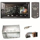 Sony XAV-W651BT Bluetooth USB CD DVD MP3 Autoradio 2-DIN Moniceiver Touchscreen Freisprecheinrichtung Einbauset für Mercedes Vito Viano W639 W447 Sprinter
