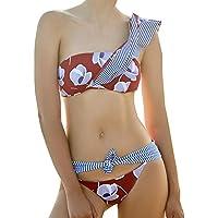 TOOOT Maillot De Bain Femme Siamois Petite Poitrine Réunis Sexy Noir Couverture Conservatrice Ventre Minceur Spa Bikini,XL
