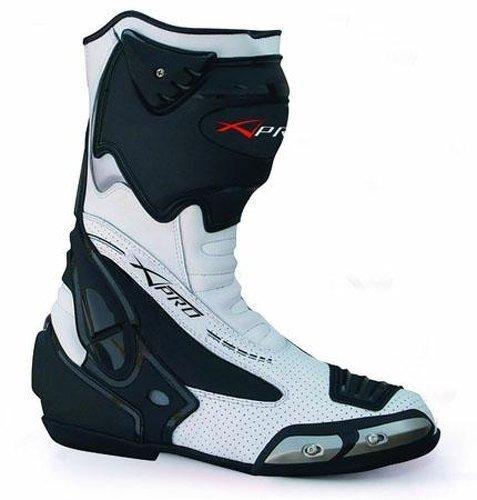 A-Pro Stivali Moto Sport Racing Pista Strada Tecnico Microfibra Bianco 41 Sonic