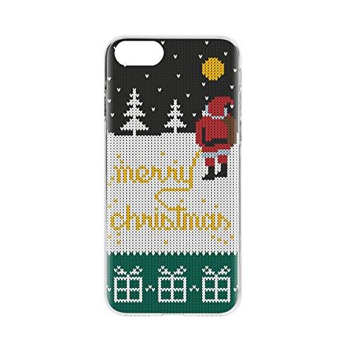 """FLAVR 27315 Weihnachts Schutzhülle """"Ugly Xmas Sweater Selfie Elfie"""" für Apple iPhone 7 bunt gelb"""