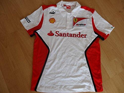 Preisvergleich Produktbild Ferrari Puma F1 Polo Shirt weiß Vettel Größe XL
