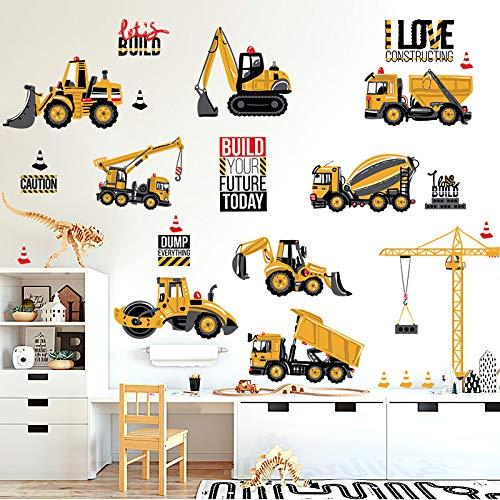 Yirenfeng Das Kinderzimmer Ist Mit Wandaufkleber, Kinderzimmer, Wand Des Kleinen Jungen, Aufkleberpapier, Spielzeughaus Und Wandtattoo Des Traktors Dekoriert