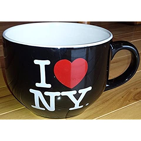 I Love NY Oversize Jumbo Black Soup Coffee Mug Cup by I Love New York