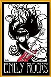 Poster mit Rahmen 61 x 91,5 cm, Gelb - Emily Rocks gerahmt - Antireflex Acrylglas