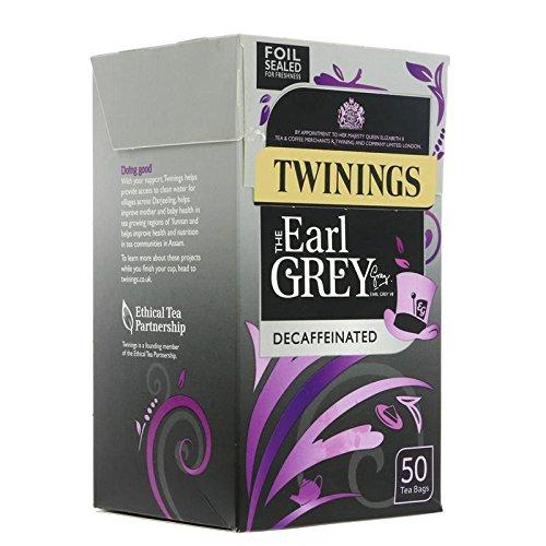 Twinings Earl Grey entkoffeiniert Tea Bags (50) – Packung mit 2