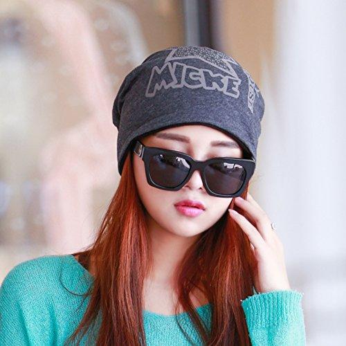 L'automne et l'hiver,les chapeaux chapeau turban kit de mod¨¨le f¨¦minin loisirs t¨ºte du pieu sur le sous-cap cap Baotou,code,sont noir 5 ¨¦toiles) Gray 5-star)