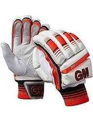 Gunn & Moore 202 Niño Hombre Guantes De Bateo Críquet Blanco / Rojo - Blanco, Right Hand - Small Boys