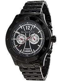 Boudier & Cie Herren Architect Automatic Collection Automatik Armbanduhr mit multifunktionalem Zifferblatt - Analoge Anzeige - Kalender - Armband und Gehäuse aus Edelstahl Größe XL - OZG1085