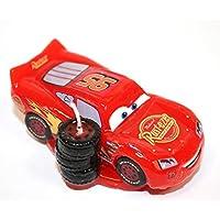 dekora 346053 Vela de Cumpleaños de Rayo Mcqueen de Disney Pixar Cars, Cera, 4.00x8.00x15.00 cm