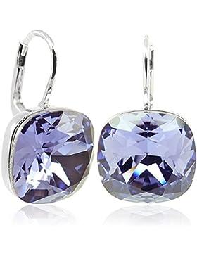 Ohrringe mit Kristalle von Swarovski® Silber Tanzanite Lila - NOBEL SCHMUCK