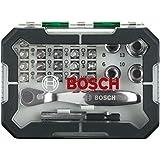 Bosch 2607017322 Set de 26 Embouts de vissage + cliquet