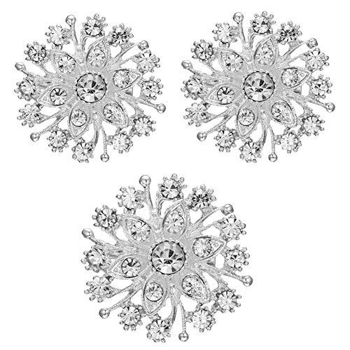 (Munuodu Brosche Lady Elegant Kristall-Braut-Pin Dekoration (3 * Brosche))