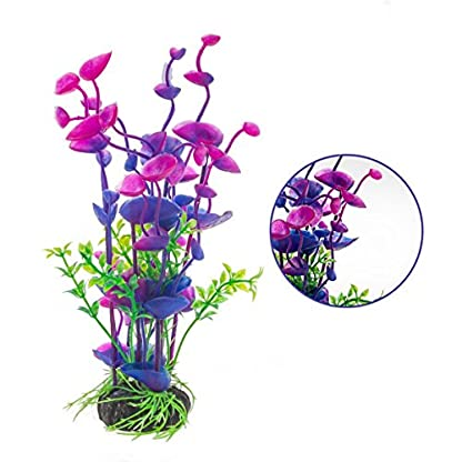 PANYTOW Aquarium Plastic Plants Fish Tank Imitation Sea Urchin Water Aquatic Grass Artificial Plants Decoration for… 2