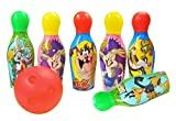#4: Zitto Looney Lunes Bowling Set Plastic 6 Pins 1 Balls Educational Mini Bowling Toy for Kids