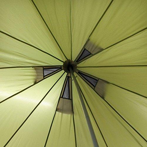 10T Mojave 400 Beechnut - Tipi Zelt mit XXL Wohn- & Schlafbereich, Campingzelt für 4-8 Personen, Indianer Outdoorzelt mit Bodenwanne, wasserdichtes Pyramidenzelt mit 5000mm, Familienzelt mit Transporttasche, Zeltheringen, Abspannleinen und Zeltgestänge - 6