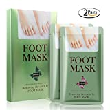 2 Pairs Exfoliating Foot Peel Mask – Inofia Foot Mask Peeling Away Dry Dead Skin Callus Remover Dead skin Remover Get Soft Baby Foot [90-DAY Money Back Guarantee]