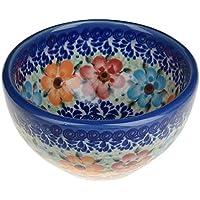 Boleslawiec Pottery–Contenitore in ceramica, dipinta a mano piccola ciotola snack e dip, 250ml 518-u-004