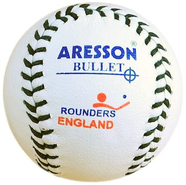 Aresson Bullet Rounders Ball - White, 19.5cm