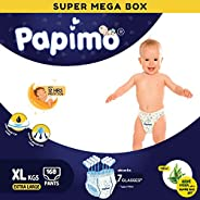 Papimo Baby Diaper Pants with Aloe-vera & Super Lock Gel - 168 Count, X-L
