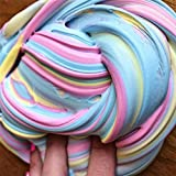 #8: World2home Kids Vent Clay Toys Fluffy Floam Slime Scented Stress Relief No Borax Kids Toy (B)
