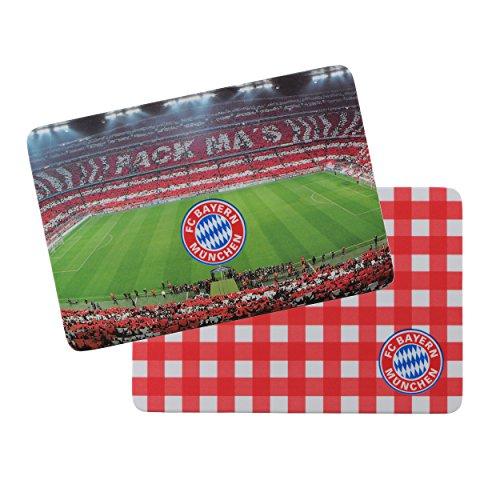 Brotzeit Brettchen 2er Set FC Bayern MÜNCHEN + gratis Sticker München forever, Frühstücksbrettchen, Frühstücksbrett (Galaxy-fußball-hemd)