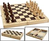 Bartl 101808 - Schach, Dame, Backgammon aus Holz