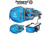 blau -Pentagram Geocaching Brusttasche, Wimmerl, Bauchtasche, Gürteltasche, mit Platz für GPS, Handy und Werkzeug, Mutlitool usw.