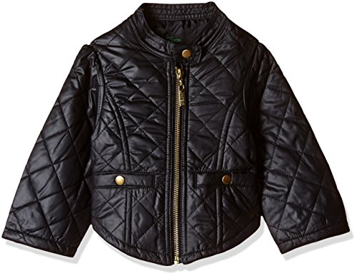 United Colors of Benetton Baby Girls' Jacket (16A2JACK0008I1001Y_Black_1Y)