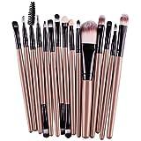 Kolylong Make-up Pinsel 15 Stück Kosmetik Pinsel einschließlich Foundation Puder