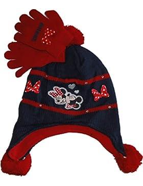 Disney Minnie Mouse peruviano Toque con guanti in blu taglia 52 - 54 Rosa o di