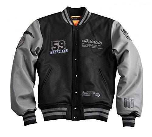 Alpha Industries Jacke Varsity Jacket, Farbe:black;Größe:M Varsity Jacke Patches