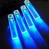 Blau 12V Auto Dekor Leuchten Laden LED Atmosphäre Innenaustattung Boden Dekoration-Lampe 4-in-1 Beleuchtung