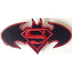 Toppe bambini Toppa termoadesive SuperBatman Toppa 8,5 cm