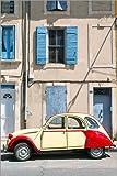 Tableau sur toile 80 x 120 cm: Citroen 2CV car, France de Matteo Colombo - Reproduction prête à accrocher, toile sur châssis, image sur toile véritable prête à accrocher, reproduction sur toile