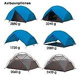 Qeedo Light Birch 2 Personen Trekking-Zelt leicht und kleines Packmaß mit Protector - blau -