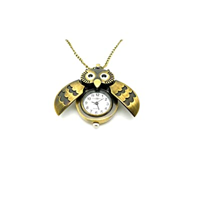 Worldtree fashion vintage bronze style owl pendants long chain worldtree fashion vintage bronze style owl pendants long chain necklace watch amazon jewellery mozeypictures Images