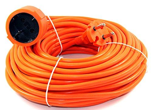 Verlängerungskabel 20m Orange Verlängerung Kabel Stromkabel Garten Strom 577