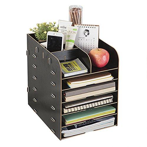 Schreibtischorganizer Aufbewahrungsregal Briefablage für A4 A5 Dokument Unterlagen und Briefe Aufbewahrungsbox Ablagesystem für den Schreibtisch