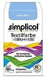 Simplicol Textilfarbe Expert für Kreatives, Einfaches Färben, Azur-Blau 1710: Farbe für Waschmaschine Oder manuelles Färben