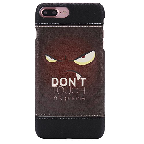 iPhone 7 Plus Hülle,iPhone 7 Plus Case,Felfy Stoßfest Hülle PC Plastic Harte Rüstung Anti-Shock Case Ultra Dünn Farbmuster Schutz Bumper Tasche Schale Etui Hülle Hard Case für Apple iPhone 7 Plus 5.5  Don't Touch My Phone
