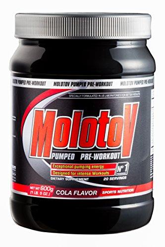 Anderson Molotov Pumped Pre-Workout Powder orange souffle 600g avec Tribulus, arginine, glutamine, la leucine, BCAA, taurine, alanine, Hmb, la citrulline, la caféine et le sel