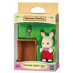 Idea Regalo - SYLVANIAN FAMILIES- Bebè Coniglio Cioccolato Mini Bambola, Multicolore, 5062