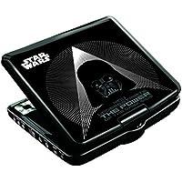 Star Wars - Dvdp6Sw Lector DVD Portátil con Puerto USB Y Mando, Negro (Lexibook DVDP6SW)