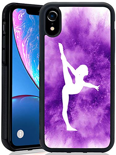 Cute Cat iPhone XR ChyFS Handyhülle Schwarz Schutzhülle iPhone XR (2018 Version), Gymnastics